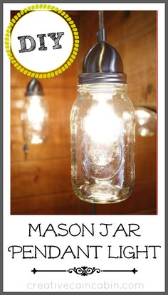 Mason jar pendant lighting – perfect for smaller rooms!