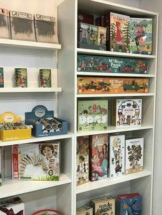 Londji, Hape Display Ideas, Bookcase, Shelves, Home Decor, Classroom, Games, Shelving, Decoration Home, Room Decor