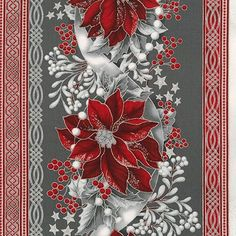 Robert Kaufman Fabrics: SILVER by Peggy Toole from Holiday Flourish Wide Christmas 2015, Christmas Design, Christmas And New Year, Vintage Christmas, Christmas Background, Paper Background, Background Patterns, Christmas Art Projects, Christmas Paintings