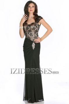 Sheath/Column Sweetheart Chiffon Lace Mother of the Bride Dresses - IZIDRESSES.COM at IZIDRESSES.com