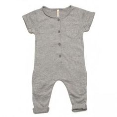 GRAY LABEL Short sleeved playsuit made from the softest organic cotton. Buttons up the front with a pocket on the right chest. organic cotton about GRAY-LABEL Gray-Label creates simplicity in a w Baby Outfits, Kids Outfits, Baby Boy Fashion, Fashion Kids, Gray Label, Summer Suits, Kid Styles, Kind Mode, Toddler Fashion