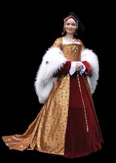 Gown based on the portrait of Jane Seymour (1530, artisit unknown).-Tailor's - Lenka