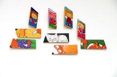 Hand painted wooden BROOCH - Angel brooch - Fox brooch - Girl brooch - Cat brooch - Unique pin - Handmade badge Illustrated eco friendly brooch Cute
