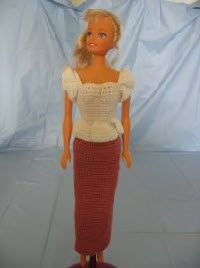 Rose Evening Outfit With Matching Coat  For Barbie  Free Crochet Pattern
