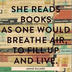 Reading is living