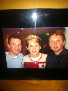Niall with his dad and brother. My husband, brother-in-law and father-in-law