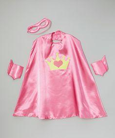 Pink Crown Superhero Cape Set #zulily #zulilyfinds