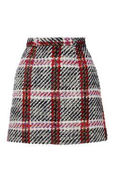 Checked Mini Skirt by CARVEN for Preorder on Moda Operandi