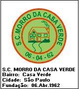 SPORT CLUB MORRO DA CASA VERDE - SÃO PAULO - MEGA DISTINTIVOS™ - Clubes de Futebol do Mundo