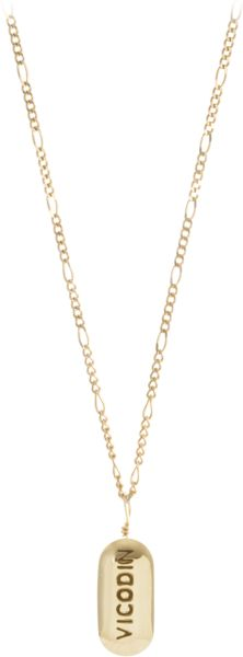 """UPS & DOWNS NECKLACE [vicodin, 14k gold] $1,320.00 COV-UD001G 