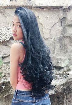 New Haircut Short Curly Hair Perms Ideas Long Black Hair, Long Layered Hair, Very Long Hair, Long Hair Cuts, Short Curly Hair, Curly Hair Styles, Trendy Haircut, Haircuts For Long Hair, Permed Hairstyles