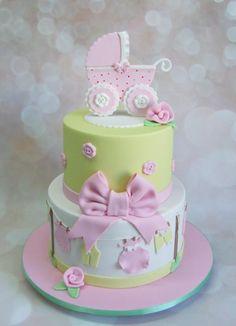 Pastel Baby Shower Cake
