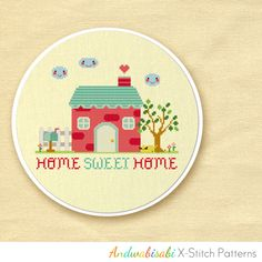 Kitschy Digitals :: Sewing & Needlework Patterns :: Our Sweet Home Cross-Stitch Pattern