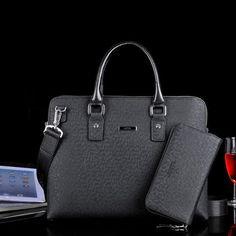 LAPOE business men's PU leather briefcase bag handbag laptop bolsa masculina couro briefcase men handbag maletin hombre laptop