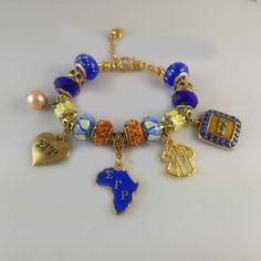 Sigma Gamma Rho Sorority Charm Bead Bracelet Bangle