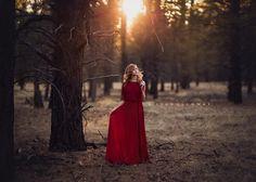 Lisa Holloway Photography...fashion, woodland, red dress, woods