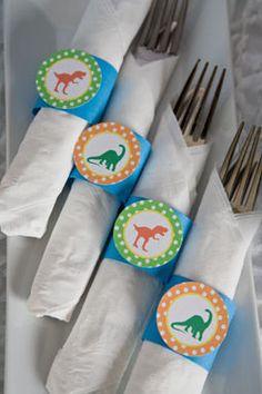 Dinosaur Napkin Rings Birthday Party