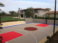 Sport Court is the industry leader in sport court floors, basketball court flooring, and has been building professional or home basketball courts since 1974 Backyard Basketball, Basketball Court Flooring, Outdoor Basketball Court, Kourtney Kardashian, Kardashian Home, Kylie Jenner New House, Basketball Tricks, Xavier Basketball, Basketball Shooting