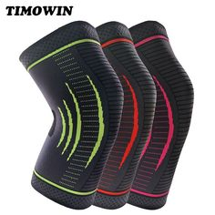 1 Pcs Knee Sleeve Support Compression Kneepad TIMOWIN Brand Knee Pads for Running, Jogging, Riding And Joint Pain Relief