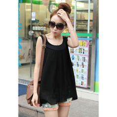 Popular Plus Size Sleeveless Chiffon Women's Summer BlouseBlouses | RoseGal.com