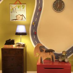 """Magnetic paint on wall for road"""""""