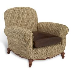 Victoria Falls Woven Club Chair - Chairs / Ottomans - Furniture - Products - Ralph Lauren Home - RalphLaurenHome.com