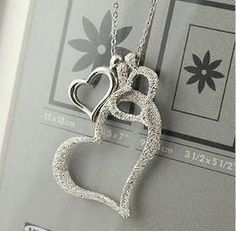 Heart Necklace Silver Plated Jewellery