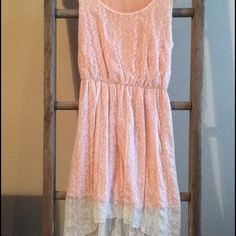Pale Pink, Lace High-Low Dress From Forever 21
