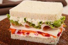 Receita de Sanduiche super verão em Paes e lanches, veja essa e outras receitas aqui!