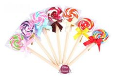 1 adorable stylo à bille sucette lollipop Rouge et blanc 15 cm de la boutique LiliesScrap sur Etsy