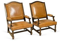 Antique french chairs, pair