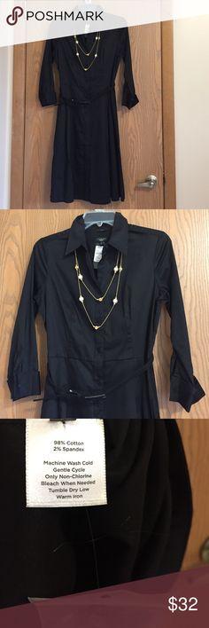 Shirtwaist dress👗👗💕 Cotton black shirtwaist dress. NWT. Talbots Dresses