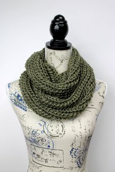 Gift For Dad - Chunky Scarf - Knit Circle Scarf - Knit Cowl Scarf - Knitted Infinity - Thick Knit Scarf - Winter Accessories - Etsy Gifts