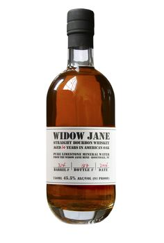 Widow Jane Bourbon This 7 year offering is aged to perfection. It drinks like a 20 year + bourbon with its deep cherry notes and light tannic finish Bourbon Whiskey, Scotch Whisky, Cigars And Whiskey, Whiskey Bottle, Whiskey Label, Whiskey Brands, The Distillers, Best Bourbons, Spiritus