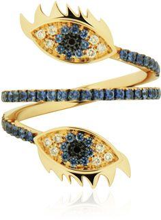 Delfina Delettrez Marry Me Double Eye Ring