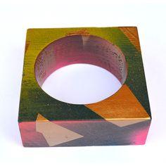 multi color wood bangle