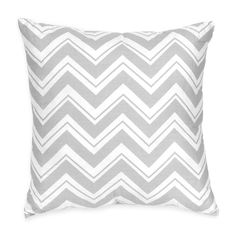 Sweet Jojo Designs Pink and Gray Chevron Zig Zag Decorative Accent Throw Pillow (Decorative Throw Pillow), Grey, Size 16 x 16