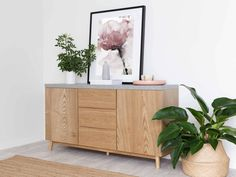 The Nava Buffet features contemporary faux concrete design and dramatic style. This storage cabinet has easy slide drawers and two spacious cupboards! Small Buffet Table, Modern Buffet, Dining Room Furniture, Home Furniture, Styling A Buffet, Dining Room Inspiration, Concrete Design, Living Room Tv, Small Dining