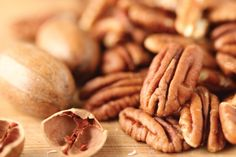 Pecan, meaning a nut requiring a stone to crack, is technically a fruit with a single pit surrounded by a husk with the nut being the edible seed that develops from the endocarp layer of the husk. They are high in oleic acid which helps reduce the 'bad cholesterol.' They pack a lot of energy in a small amount, like 700 calories per 100g of weight, while also having a significant amount of Vitamin E, potassium, iron, and calcium.  Pair maple syrup, bananas, bourbon, vanilla, or honey. #pecans