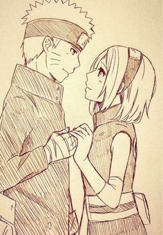 Naruto Uzumaki x Sakura Haruno | NaruSaku / SakuNaru | Orange / Yellow & Pink / Red | Heaven & Earth | The King & Queen | Hero & Heroine | Naruto Shippuden | manga anime couple ship | OTP