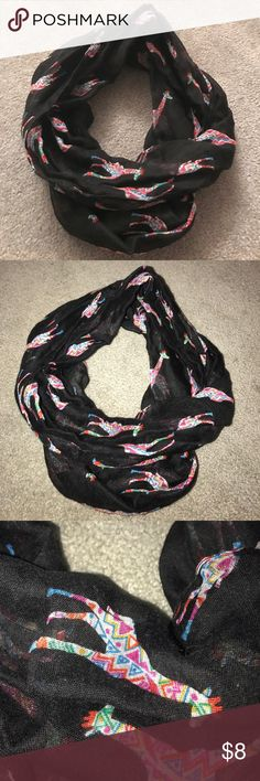 Multi Colored Giraffe Infinity Scarf NWOT, never had anything to wear it with! It was an impulse buy! Very lightweight and would be great for spring and summer. Offers are always considered and bundles get an automatic 25% discount! ❤️ Accessories Scarves & Wraps