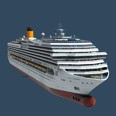 c4d costa concordia cruise ship