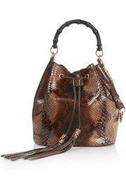Linea C python bucket bag