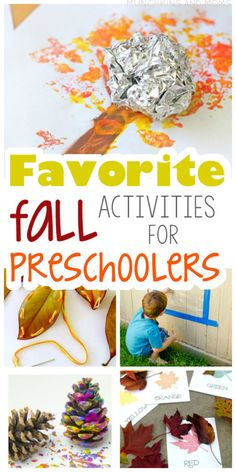 Favorite Fall Activities for Preschoolers