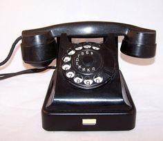 Vintage Soviet Rotary Desk Phone. Black Ebonite Retro Phone. USSR the 1950s on Etsy, $109.99