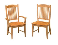 The Lyndon dining chair is shown in Oak with Medium stain.