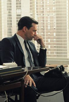 Don Draper, a classic.  Love when men used to dress and look like this!