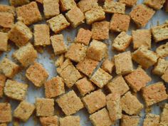 Gourmet Girl Cooks: Grain Free Stuffing Bread Cubes -- To Use In Your Favorite Stuffing Recipe