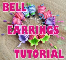 Polymer Clay Bell Earrings Tutorilal by SaffronAddict on Etsy, $15.00