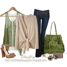 Green studded Valentino bag, created by stacy-gustin